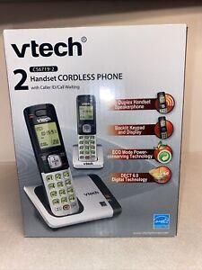 2-Handset Cordless Home Phone - VTech CS6719-2 DECT 6.0, Caller ID, Call Waiting