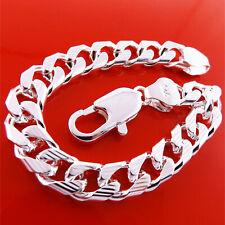 Bracelet Bangle Real 925 Sterling Silver S/F Solid Mens Ladies Link Design