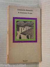 A CIASCUNO IL SUO Leonardo Sciascia Einaudi Nuovi coralli 9 1973 romanzo libro