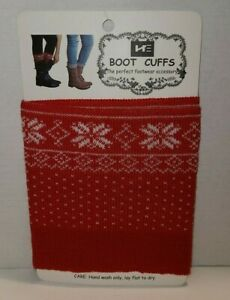 Women's Patterned Red Boot Cuff, The Perfect Footwear Accessory
