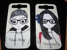Loving Couple Hard Cover Case for Samsung S3  The Boy & The Girl   Set of 2
