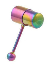 Pride Shack - Anodized Vibrating Tongue Ring Gay Lesbian Pride Body Vib Barbell