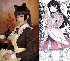 Gokou Ruri black cat Cosplay Fashion Straight black/purple 100cm wig/wigs H246