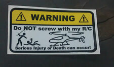 Warning Decals stickers for nitro electric gas RC Helicopter Heli elign trex
