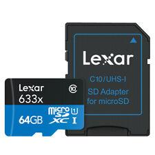 Lexar 633x 64GB microSDXC Micro SD SDXC UHS-I C10 U3 V30 Memory Card 4K 95MB/s