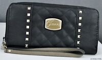 FREE Ship USA NWT SLG Wallet GUESS Adoro Black Multi New Ladies Lovely Stylish