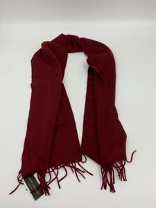 New Stewart Scotland mens scarf red merino wool x 980