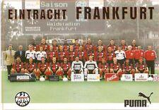 EINTRACHT FRANKFURT Mannschaftskarte Saison 1999/2000  99/2000 SGE