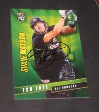Shane Watson (Australia) signed Australian 20/20  Card + COA