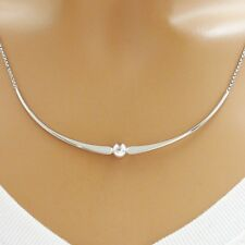 925 Sterling Silver Bead and Flat Arch Pendant and Necklace