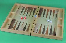 Backgammon Koffer Backgammonkoffer Brettspiel Holz 49x37,5cm aufgeklappt Neu&OVP