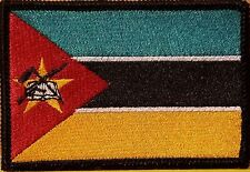 MOZAMBIQUE Flag Embroidered Iron-On Patch Military Emblem Black Border