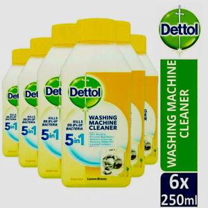 Dettol Washing Machine Cleaner Lemon Breeze 250ml Pack of 1,2,3,6