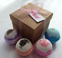 Extra Large Assorted Bath Bombs Gift Set (Brown or White Box) 220-250g Bombs