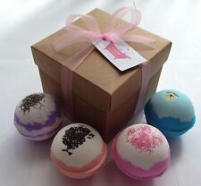 Extra Large Assorted Bath Bombs Gift Set (Brown or White Box)