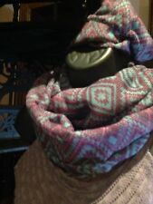 Nemesis Boho Lavender Navajo Print Infinity Scarf Wrap