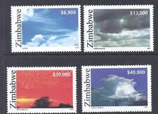 ZIMBABWE, 2005, CLOUD FORMATIONS, SG 1156-59, MNH SET 4