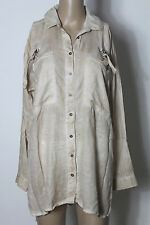 MANGO Tunika Gr. S beige Batik Oversize Long Bluse/Tunika