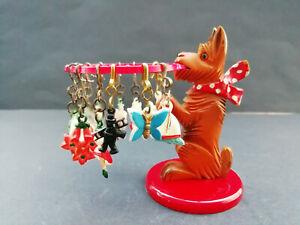 Glasmerker Ru-Ra Hund mit 12 Glasmerker 50er Jahre DDR