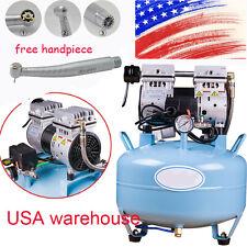 dental equipment silent oil-free Noiseless oilless air compressor 30L FDA +gift