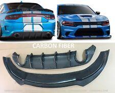 Dodge Charger SRT HELCAT 2016-2019 CARBON FIBER Lip Spoiler & Rear Diffuser