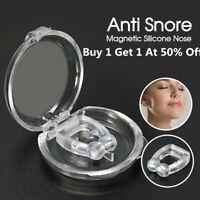 Silicone Magnetic Anti Snore Stop Snoring Nose Clip Sleeping Aid Apnea Guard USA
