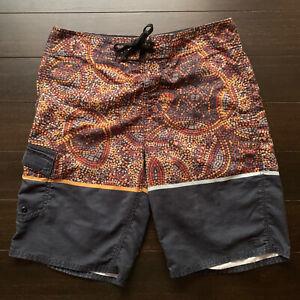 O'Neill Mosiac Board Shorts Mens Size 32 Multicolor  Surf Beach Active Swimwear