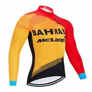 Men Bicycle Riding Long Clothing Set Jersey Bib Pants Set Cycling Shirt Trousers