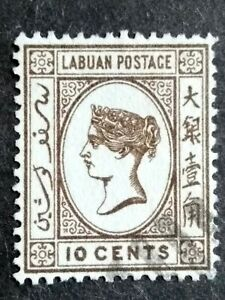 Labuan Postage 1892-1894 Queen Victoria 10c Brown - 1v Used