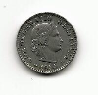 World Coins - Switzerland 20 Rappen 1944 Coin KM # 29a