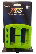 PL366GN Green New Bicycle pedal 9/16 platform bmx cruiser urban fixie mtb bike