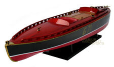 "Rare Beautiful handcrafted Rainbow IV 35"" Display Wooden Model Boats"