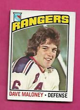 1976-77 OPC  # 181 RANGERS DAVE MALONEY ROOKIE EX+  CARD  (INV# C4917)