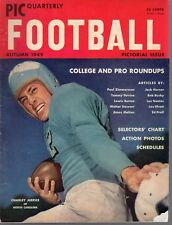 1949 PIC Quarterly College Football magazine, Charley Justice, North Carolina~Gd