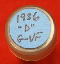 1936-D LINCOLN WHEAT CENT PENNY 50 COIN ROLL G-VF COLLECTOR COINS GIFT R4