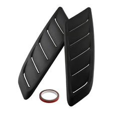 Pair ABS Universal Car Simulation Front Hood Vent Decor Sporty Air Flow Sticker