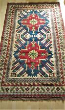 Vintage Oriental Caucasian Kazak Chelaberd Hand Knotted Wool Rug 247x148cm