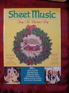 SHEET MUSIC Magazine November December 1995 Songs Christmas Day Ian Anderson