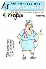 Nurse Norma, AI PEOPLE Unmounted Rubber Stamp Set ART IMPRESSIONS - NEW, UM4100