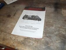 GLOMATE PORTABLE GM 1600 GAS STOVE OWNER'S MANUAL AND OPERATING INSTRUCTION'S