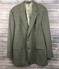 BROOKS BROTHERS 346 Blazer 46 LG Brown Herringbone Windowpane Sports Coat Jacket