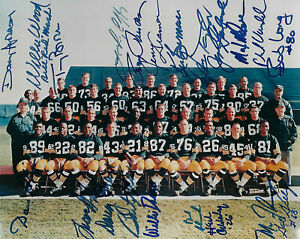 1966 PACKERS SB I team signed 8x10 photo 22 AUTOS Bart Starr Taylor McGee JSA LO