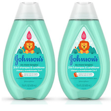 2 Johnson'S Tear Free Detangling 2 in1Toddler & kids Shampoo Conditioner 13.6 Oz