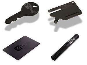 """""""OG SNUFF"""" Saving Bundle Matte Black Key Card Straw Unique Snorter Board Scoop"""