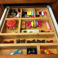 Bamboo Junk Drawer Organiser and Assorted Sizes Wood Storage Box Dividers