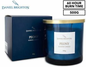 Daniel Brighton Peony Everyday Scented Soy Candle 500g NEW FREE SHIPPING