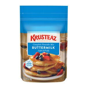 Krusteaz Buttermilk Complete Pancake Mix Waffles Batter Just Add Water (4.53kg)