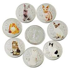 WR 2015 Vanuatu Chat Argent Coin Set 5 Vatu 7 Pièces Animal Souvenir