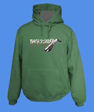 Hoody Kapuzenpullover Back2Scool Gun move2be Schule grün L