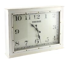Vintage Distressed Shabby Chic Style Large Cream Wall Clock Freestanding Clock